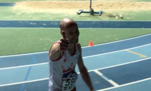 Patrice Vieu aux championnats de France Masters en salle 2019 à Liévin