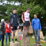 Enzo Teysseyre sur le podium junior du BrassacATrail 2019 à Brassac