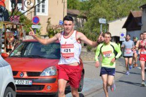 Axel Danieau sur le 10km du Trail Cordais 2019 à Cordes-sur-Ciel
