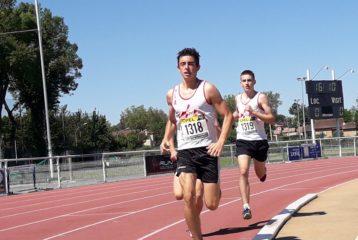 Pierre Alba sur 1000m aux championnats du Tarn Benjamins-Minimes sur piste 2019 à Castres